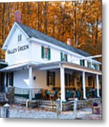 The Valley Green Inn In Autumn Metal Print by Bill Cannon