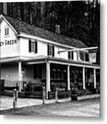 The Valley Green Inn In Black And White Metal Print
