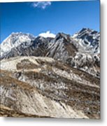 The Valley Leading To Mt Everest In Nepal Metal Print