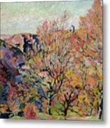 The Valley Of The Sedelle In Crozant Metal Print by Jean Baptiste Armand Guillaumin