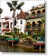 The Venice Canal Historic District Metal Print