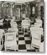 The Verandah Cafe Of The Titanic Metal Print by Photo Researchers