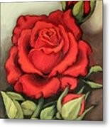 The Very Red Rose Metal Print