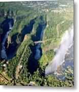 The Vic Falls Gorge Metal Print