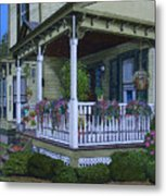 The Victorian Porch Metal Print