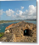 The View From Fort Rodney On Pigeon Island Gros Islet Caribbean Metal Print