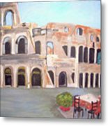 The View Of The Coliseum In Rome Metal Print