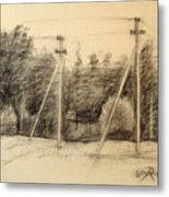The view of the village Metal Print