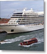 The Viking Star Cruise Liner In Venice Italy Metal Print