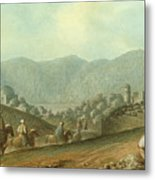 The Village Of Betania With A View Of The Dead Sea Metal Print