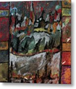 The Village On A Hill Metal Print