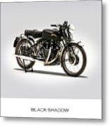 The Vincent Black Shadow Metal Print