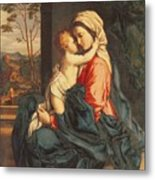 The Virgin And Child Embracing Metal Print