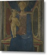 The Virgin And Child Enthroned Metal Print