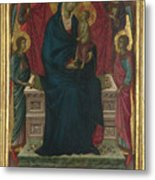 The Virgin And Child With Four Angels Metal Print