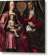 The Virgin And Child With Saint Anne Metal Print
