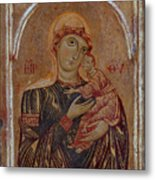 The Virgin And Child With Two Angels Metal Print