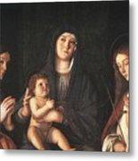The Virgin And Child With Two Saints Prado Giovanni Bellini Metal Print
