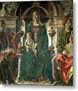 The Virgin And Saints Metal Print