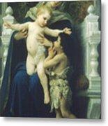 The Virgin Baby Jesus And Saint John The Baptist Metal Print