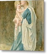 The Virgin Mary With Jesus Metal Print