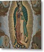 The Virgin Of Guadalupe With The Four Apparitions Metal Print