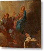 The Virgin Placing St Teresa Under The Protection Of St Joseph Metal Print