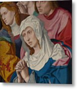 The Virgin Saints And A Holy Woman Metal Print