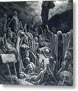 The Vision Of The Valley Of Dry Bones 1866 Metal Print