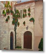 The Visitor In Assisi Metal Print