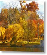 The Vt Duck Pond Metal Print by Kathy Jennings