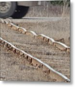The Warped Railroad Metal Print