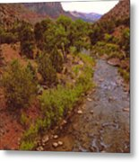 The Watchman Formation Zion Metal Print