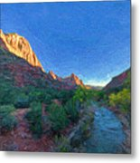 The Watchman Zion National Park Metal Print