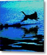 The Water Dog - Debbie May.fineartamerica.com Metal Print