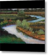 The Water Flows South Metal Print