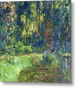 The Water-lily Pond At Giverny  Metal Print