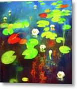 The Water Lily Pond Metal Print