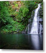 The Waterfall And Large Pool Of Vieiros Metal Print