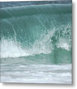 The Wave De Metal Print