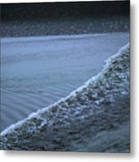 The Wave Of A Bore Tide Traveling Metal Print