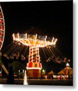 The Wave Swinger Ride Navy Pier Chicago Metal Print