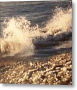 The Waves Of Waverly Beach Metal Print