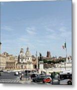 The Way To Piazza Venezia Metal Print