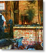 The Way We Were - The Blacksmith - Paint Metal Print