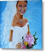 the wedding day of my daughter Daniela Metal Print