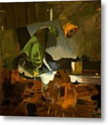 The Welder Metal Print by Martha Ressler