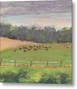 The West Cow Pasture Early Morning Metal Print