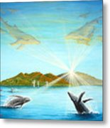 The Whales Of Maui Metal Print