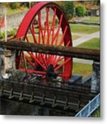 The Wheel Park, Laxey, Isle Of Man Metal Print